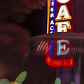 International Cafe Neon Sign At Night Santa Monica Ca by Scott Campbell