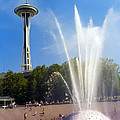 International Fountain And Space Needle by Bob Phillips