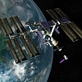 International Space Station by Paul Wootton/science Photo Library