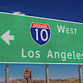 Interstate 10 Highway Signs by Panoramic Images