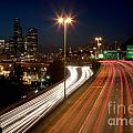 Interstate Traffic In Seattle Washington by Bill Cobb