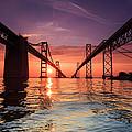 Into Sunrise - Bay Bridge by Jennifer Casey