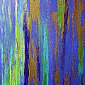 Into The Blue Abstract 2 by Saundra Myles