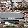 Intrust Bank Arena And Old Town Wichita by Bill Cobb