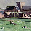 Iona Abbey From The Northwest by Francis Campbell Boileau Cadell