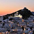 Ios Town During Sunset by George Atsametakis