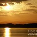Iowa River Sunset V3 by Deb Schense