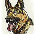 iPhone-Case-Dog-GermanShep. by Gordon Punt