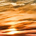Iphone Sunset Digital Paint by Debbie Portwood