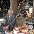 Iran Isfahan Copper Artisan by Lois Ivancin Tavaf