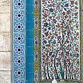 Iran Shiraz Tile And Fountain by Lois Ivancin Tavaf
