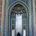Iran Yazd Mosque Visitor by Lois Ivancin Tavaf