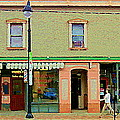 Irenes's Pub And Ernesto's Barber Shop Bank St Shops In The Glebe Paintings Of Ottawa Cspandau  by Carole Spandau