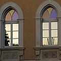 Iridescent Pastels At Sunset - Syracuse Arched Windows by Georgia Mizuleva