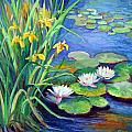 Irises And Lilies by Douglas Turner