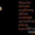 Irish Blessing 4 And Full Moon by Barbara Griffin