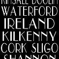 Irish Cities Subway Art by Jaime Friedman