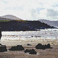Irish Coast Pastel Chalk by David Lange