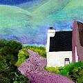 Irish Cottage With Cat by Susan Minier