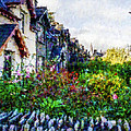 Irish Garden Water Color by David Lange