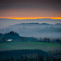 Irish Mist Over County Clare Farm by James Truett