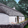 Irish Thatched Cottage by Tony Gunning