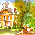 Iron County Courthouse In Watercolor by Kip DeVore