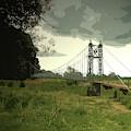 Iron Footbridge Near Doveridge, Elegant Suspension Bridge by Litz Collection