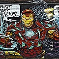 Iron Man Graffiti by Frozen in Time Fine Art Photography
