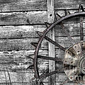 Iron Tractor Wheel by Scott Hansen