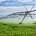 Irrigation Equipment On Farm Field by Elena Elisseeva