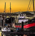 Irvine Harbour At Sunset by Tylie Duff