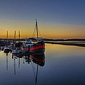 Irvine Harbour Scotland At Dusk by Tylie Duff