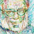 Isaac Asimov Portrait by Fabrizio Cassetta