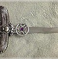 Isis And Moon Symbol Athame by Rrrose Pix