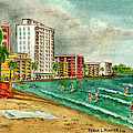 Isla Verde Beach San Juan Puerto Rico by Frank Hunter