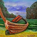 Island Canoe by Louise Burkhardt
