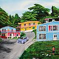 Island Hillside Living by Luis F Rodriguez