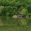 Island House On New River - West Virginia by Paulette B Wright