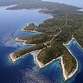 island Hvar from air by Shu Fu