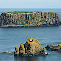 Island Off The Coast Near Ballintoy by Carl Bruemmer