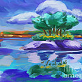 Island On The Lake by Tim Gilliland