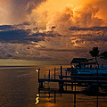 Tropical Island Storm Over Florida Keys Docks by Ginger Wakem