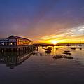 Island Sunset by Debra and Dave Vanderlaan