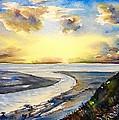 Island Sunset by Katerina Kovatcheva