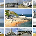 Isle Of Wight Collage - Plain by Rod Johnson