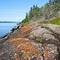 Isle Royale Rocky Shoreline by Kathryn Lund Johnson