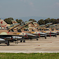 Israeli Air Force F-16`s Of Three by Timm Ziegenthaler