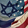 Israeli American Flags by Ken Smith