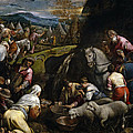 Israelis Drinking The Miraculous Water by Jacopo Bassano